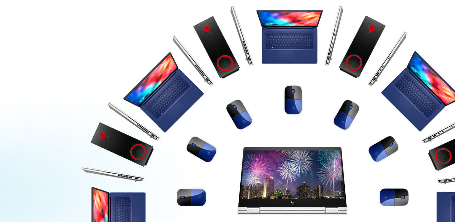 Get fabulous 4th of July deals on HP hardware – laptops, 2-in-1s, monitors and VR gear, all marked for sale
