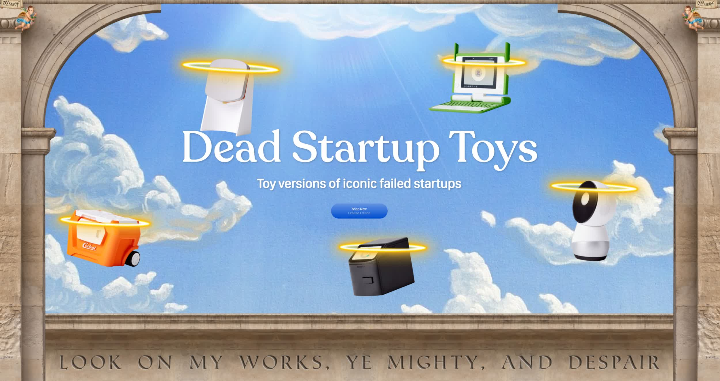 Dead Startup Toys are miniature versions of failed startups