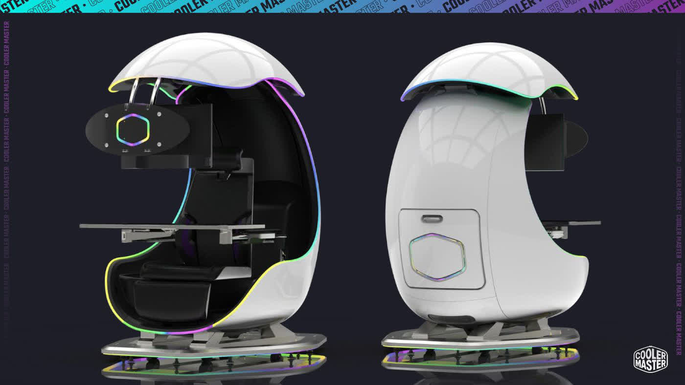 Cooler Master's Orb X is an egg-shaped, semi-enclosed gaming chair