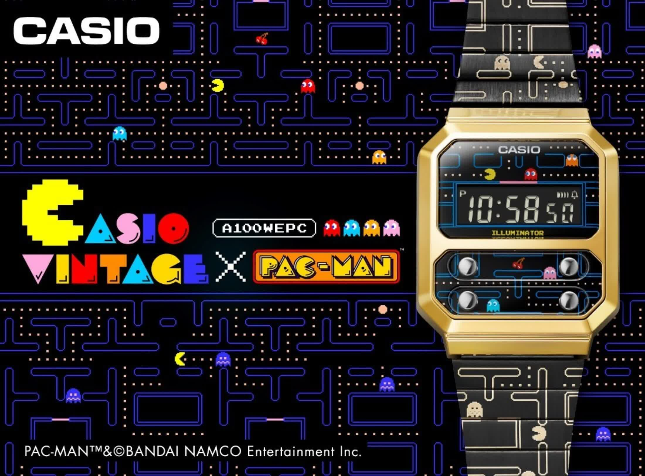 Casio made a Pac-Man watch based on a reissue of a classic timepiece
