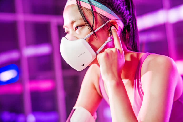 LG's air purifying mask updated with a microphone and speaker ahead of next month's launch