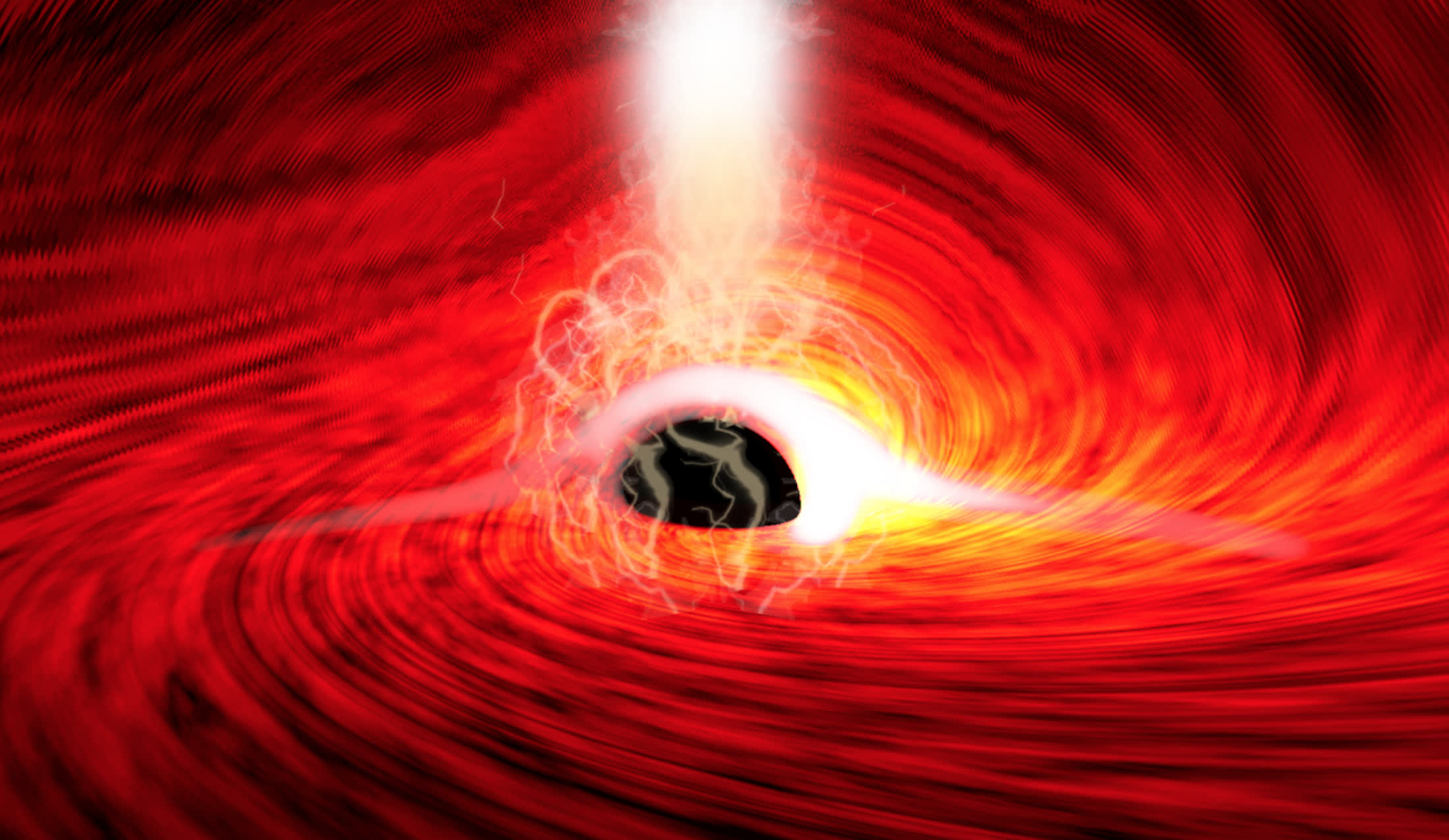 Astronomers spot light behind a black hole for the first time, reaffirming Einstein's theory of general relativity
