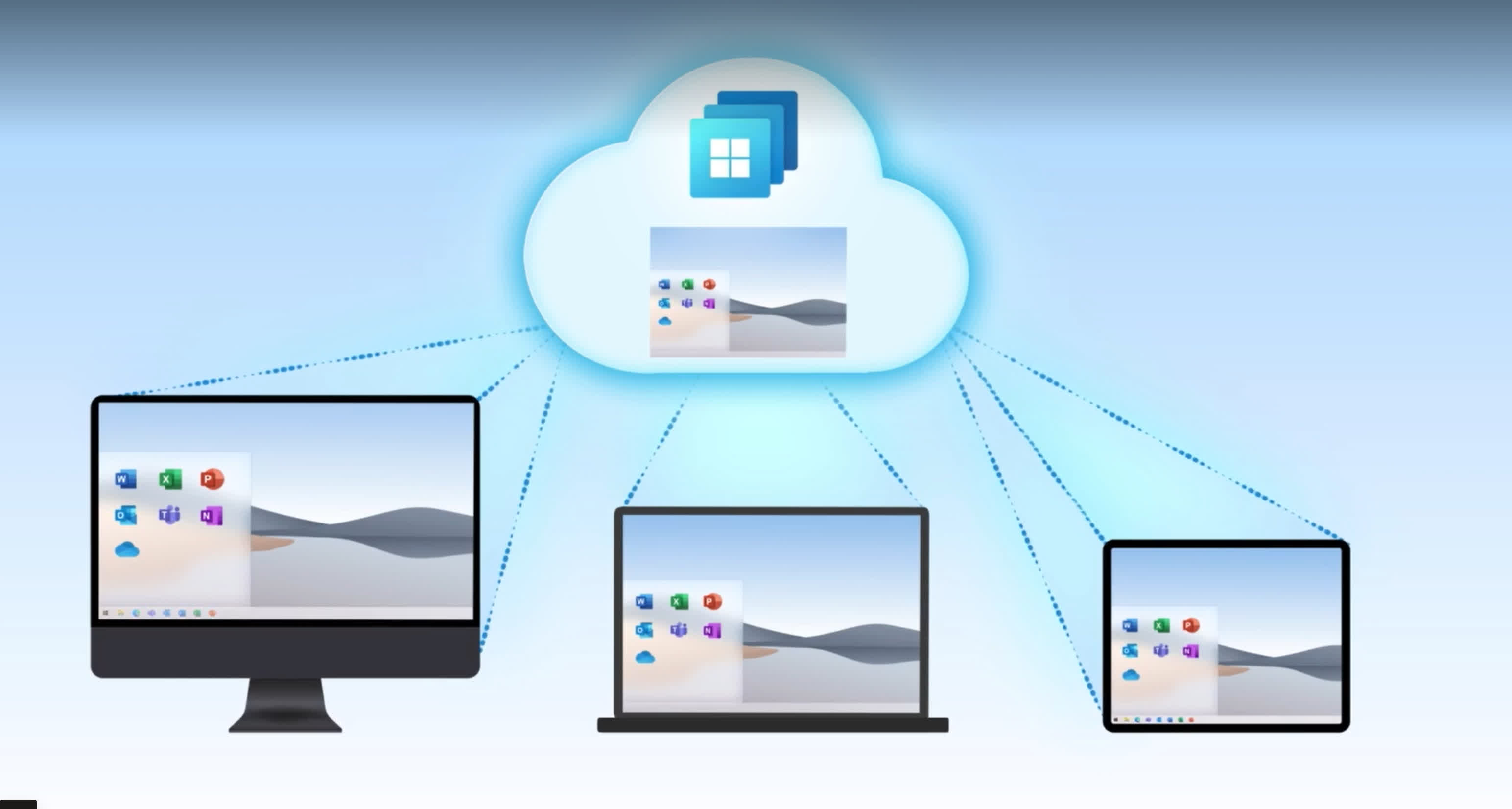 Microsoft's business-focused Windows 365 Cloud PC subscription starts at $20/mo