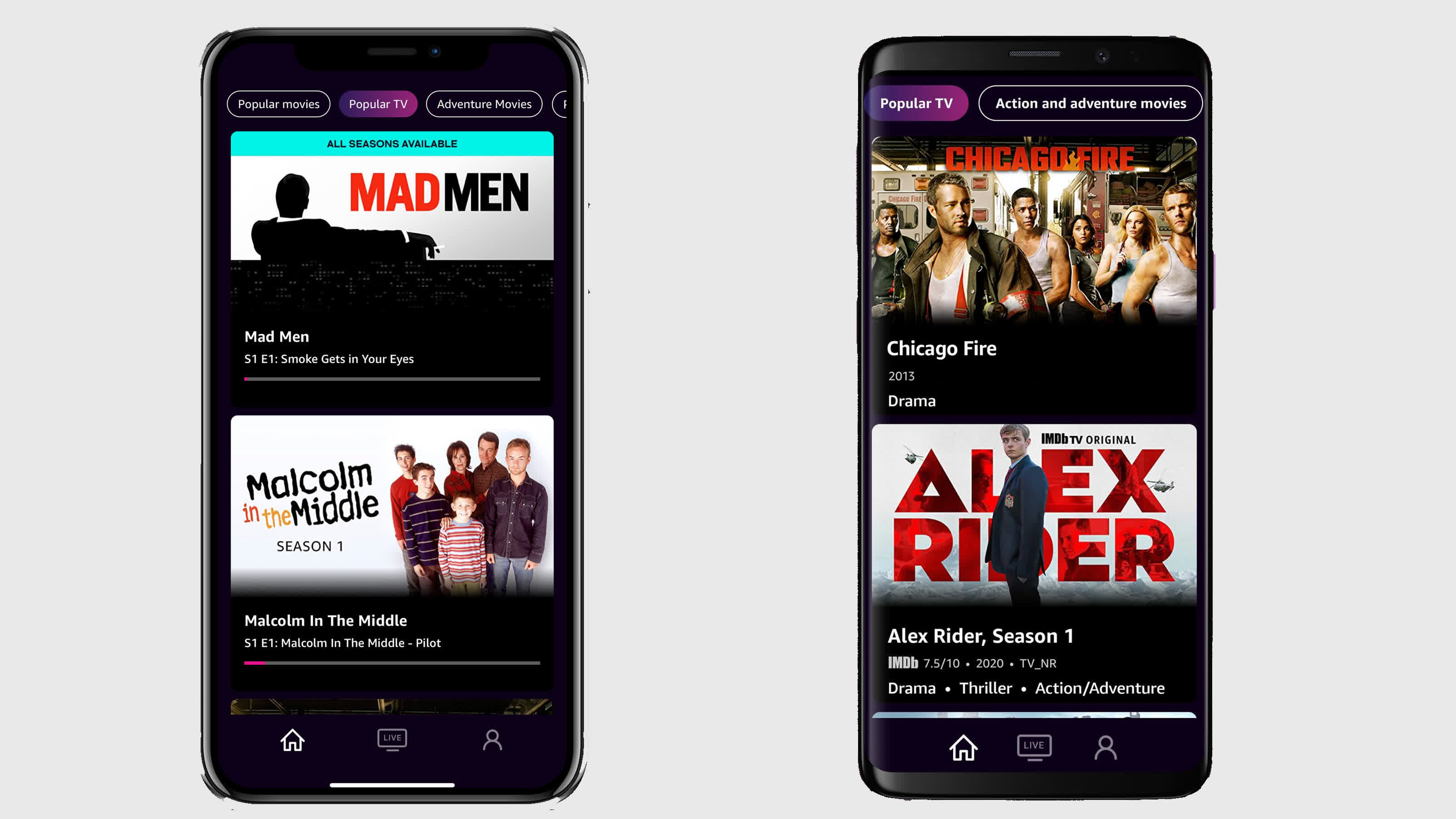 Amazon's ad-supported IMDb TV streaming service finally gets Android and iOS mobile apps
