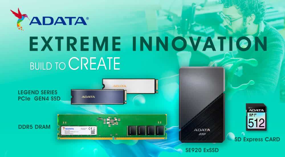 Adata's upcoming Legend SSD can hit 7.4 GB/s speeds, SE920 external drive goes up to 4GB/s