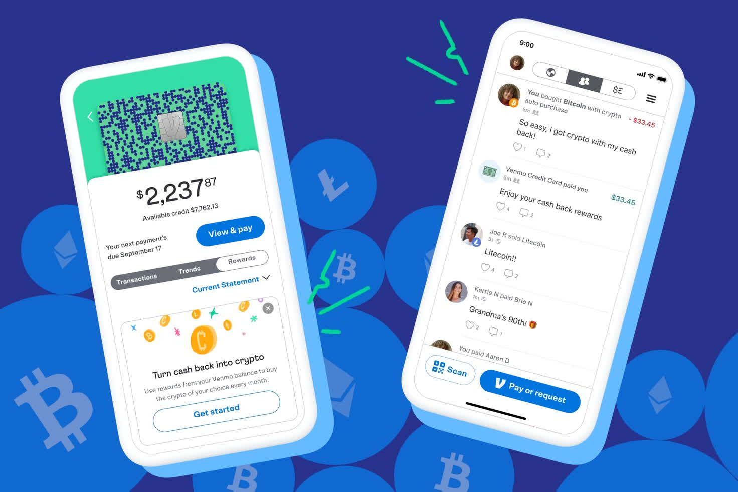 Venmo now lets credit card holders automatically buy cryptocurrency using cash back rewards