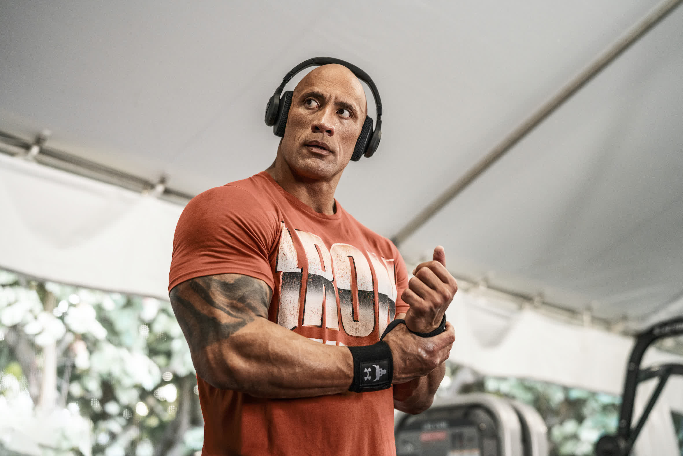 The Rock teams up with JBL and Under Armour on a pair of over-ear sports headphones