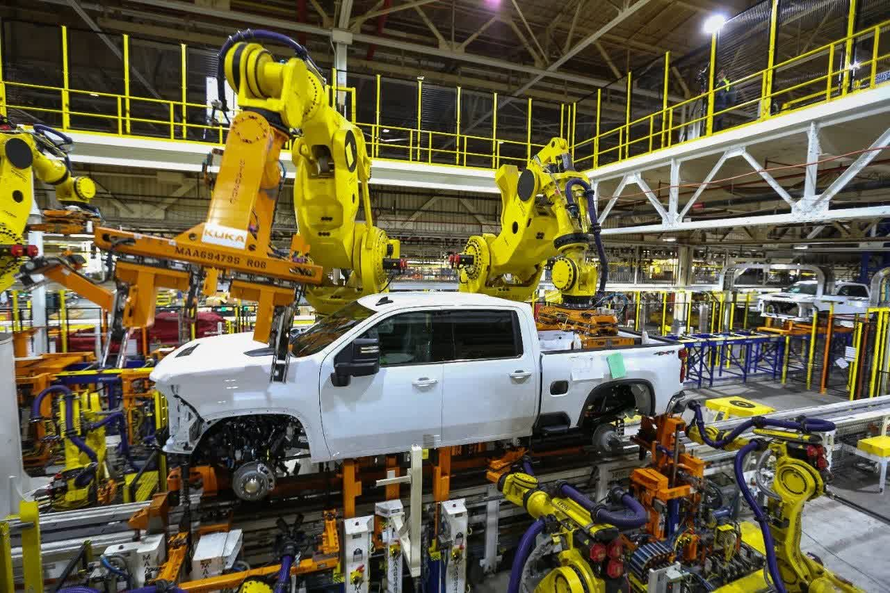 GM to halt production at nearly all North American assembly plants next week