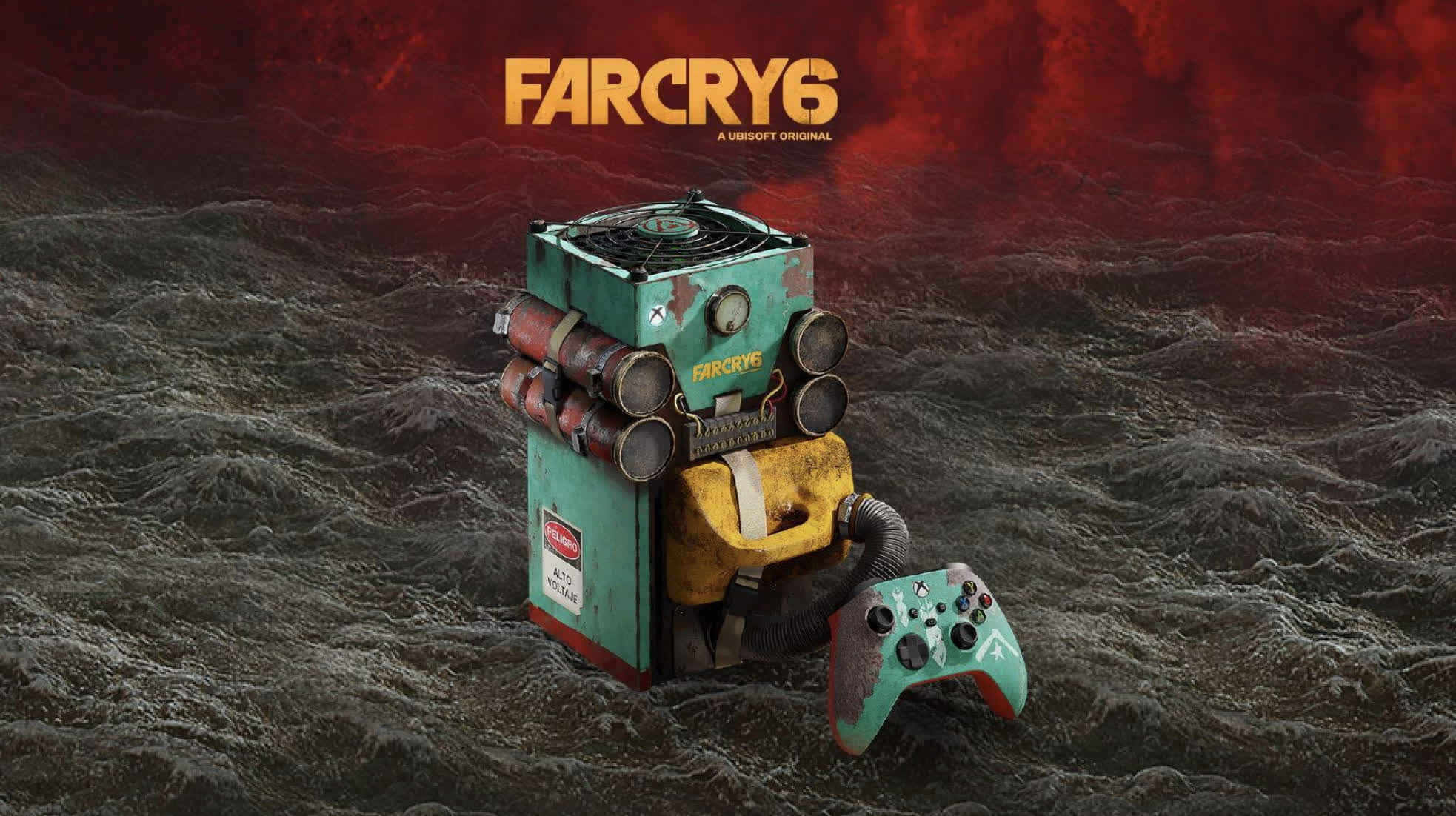 Microsoft is offering the chance to win this Far Cry 6-themed Xbox Series X alongside a 77-inch TV