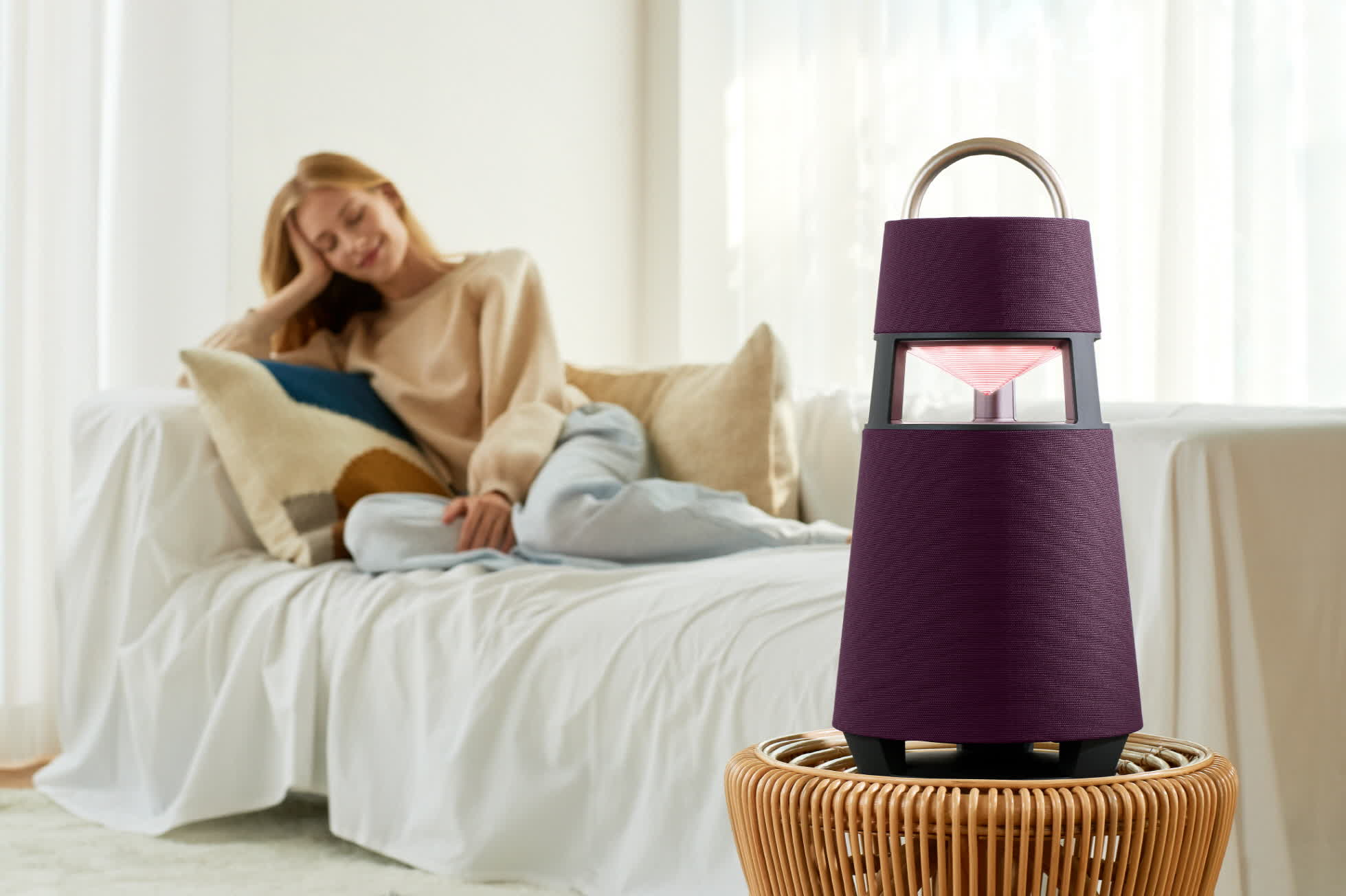 LG's new Xboom speaker offers 360 degrees of audio and mood lighting