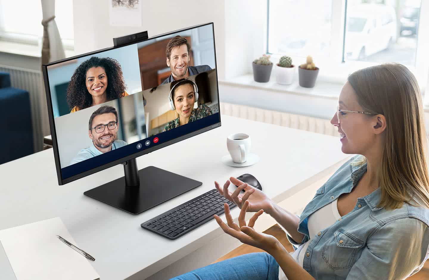 Samsung reveals new WFH-focused monitor with built-in webcam and Windows Hello support