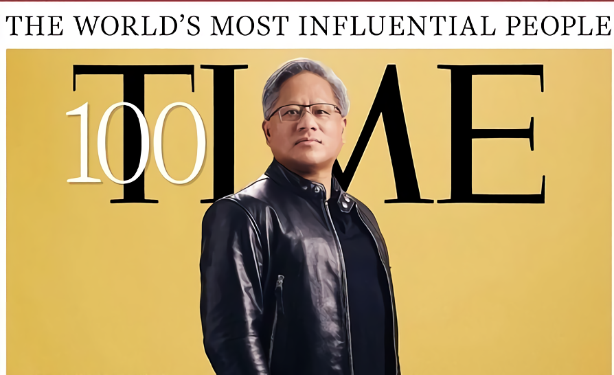 Jensen Huang named one of Time's most influential people, gets his own cover