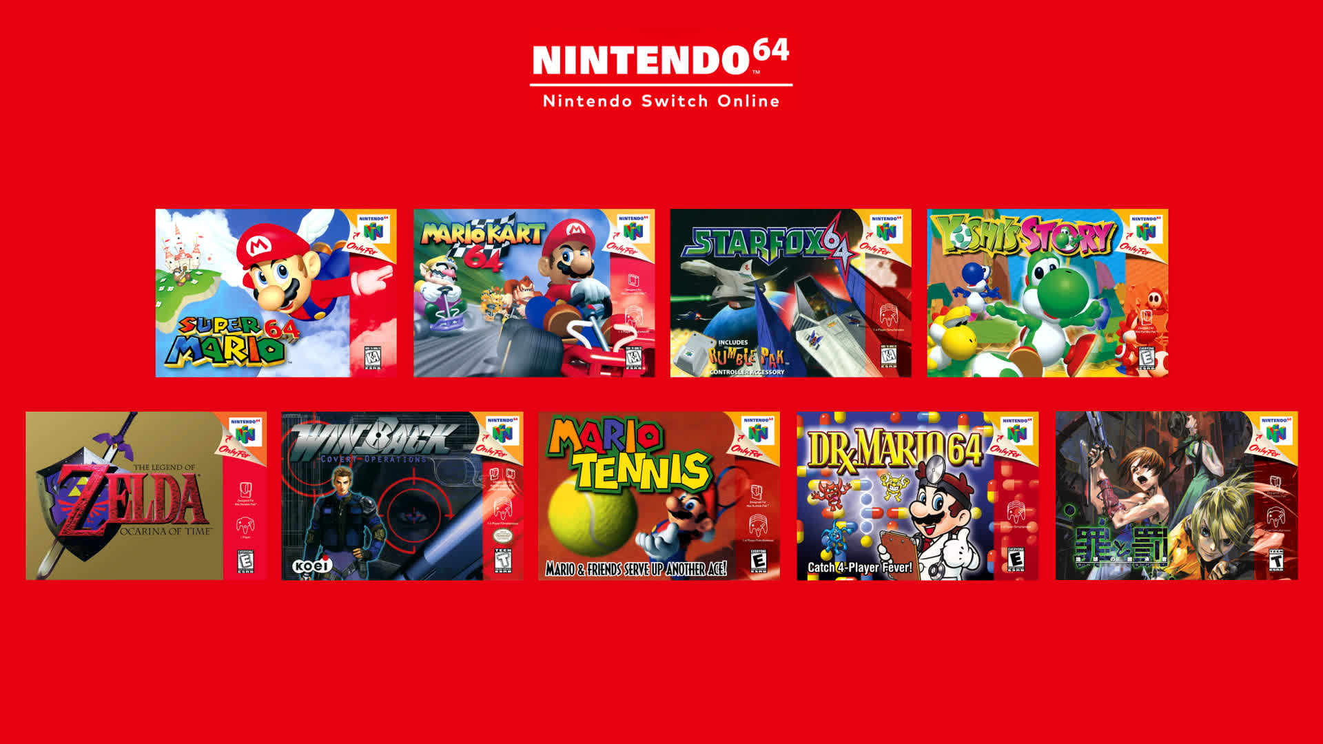 Nintendo confirms Switch Online N64 games will be 60Hz English versions