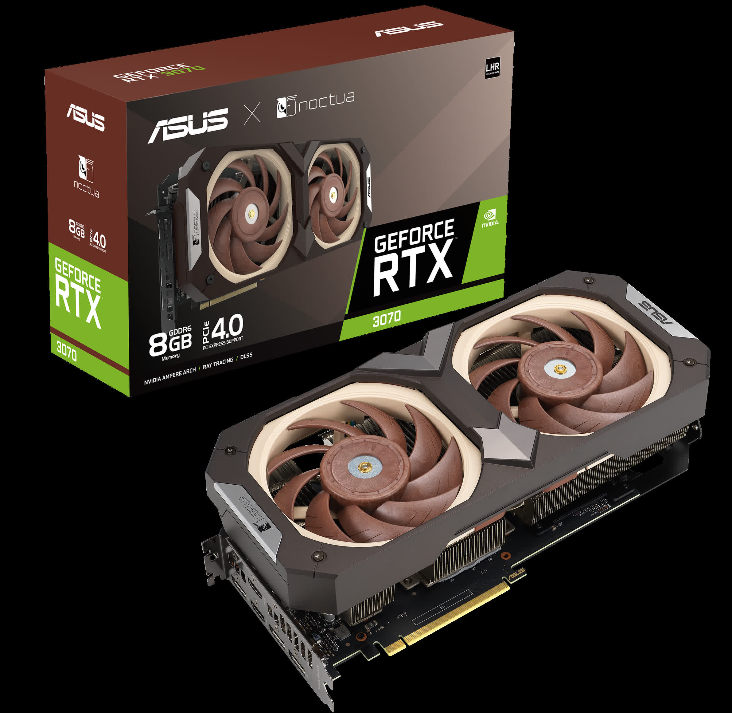 Asus GeForce RTX 3070 Noctua Edition GPU announced in standard and overclocked versions