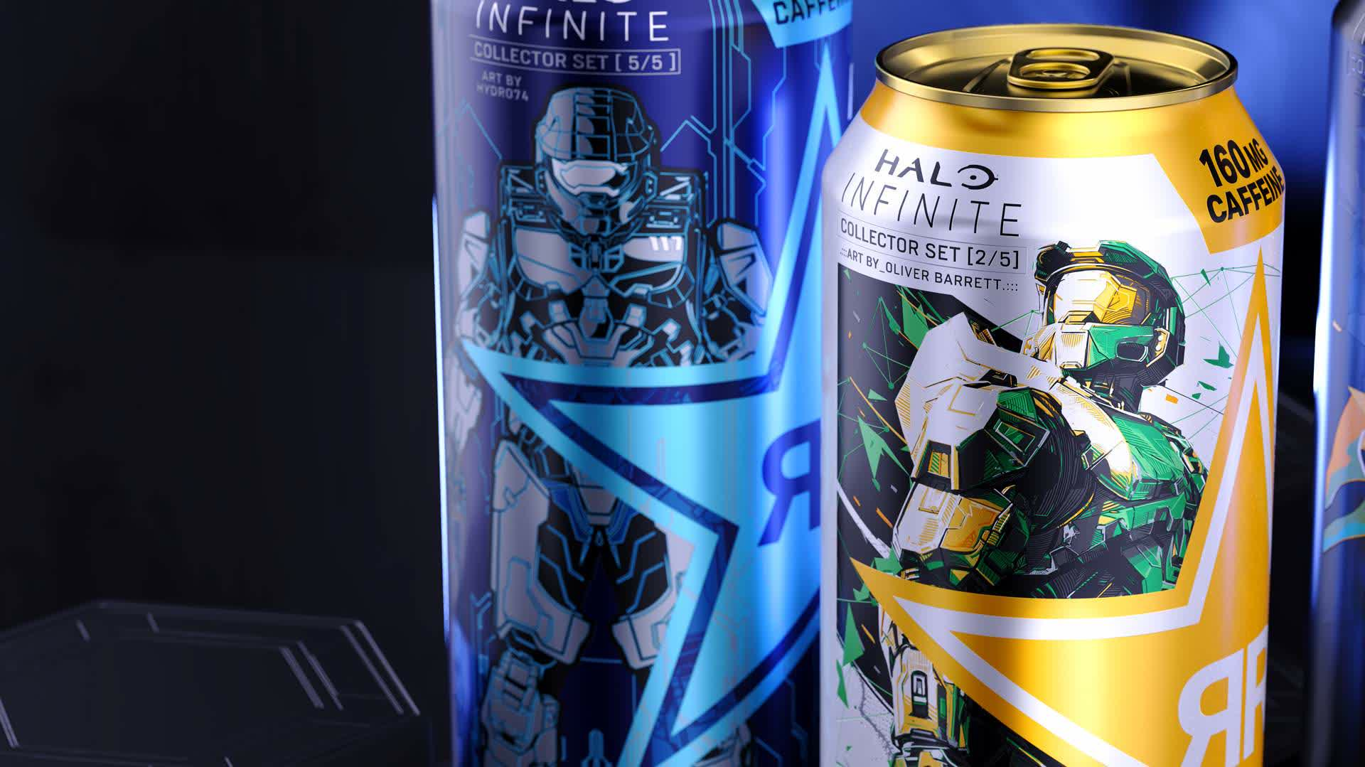 Xbox teams with Rockstar energy drink on Halo-inspired collector's edition cans