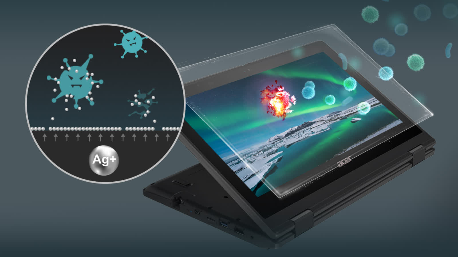 Acer announces new laptops and a tablet with anti-bacterial technology
