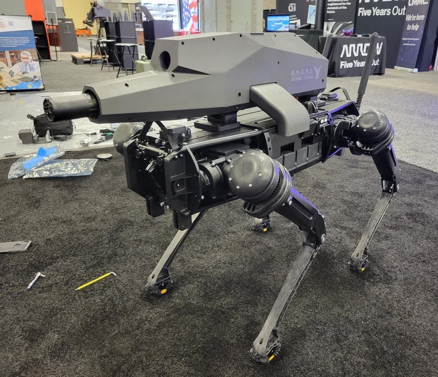 Someone made an assault rifle-carrying robot dog, and we're all doomed