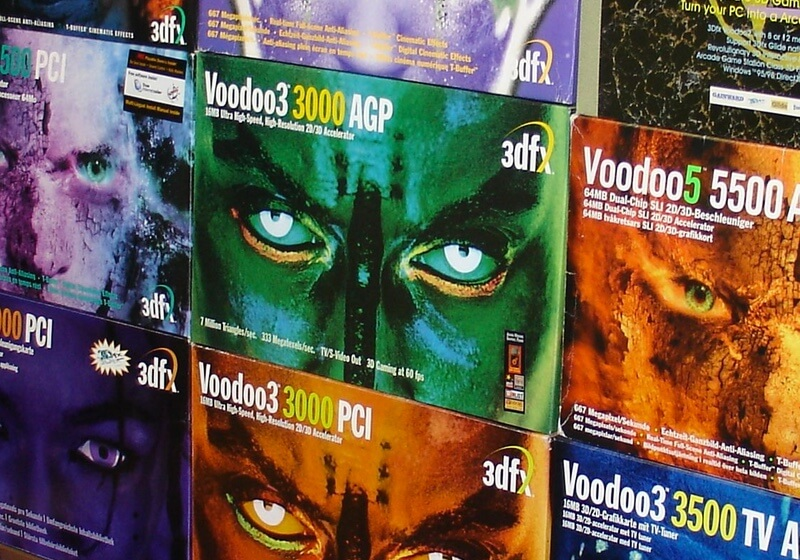 How many GPUs did a 3Dfx Voodoo2 have?