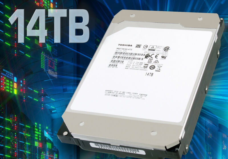 Toshiba unveils world's first 14 TB hard drive to use conventional magneticrecording