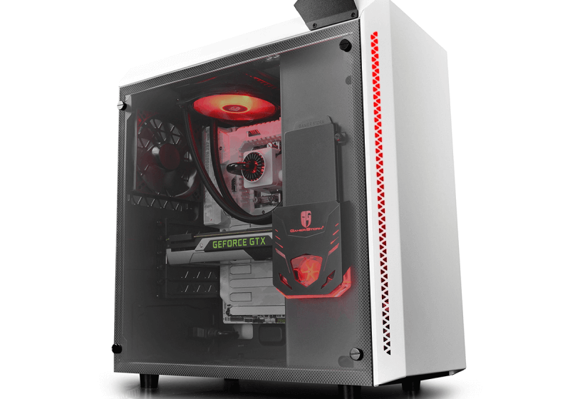DeepCool gaming case featuring an integrated liquid