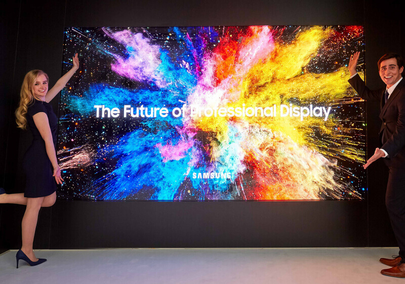 Samsung introduces The Wall Professional and 3D LED Cinema displays
