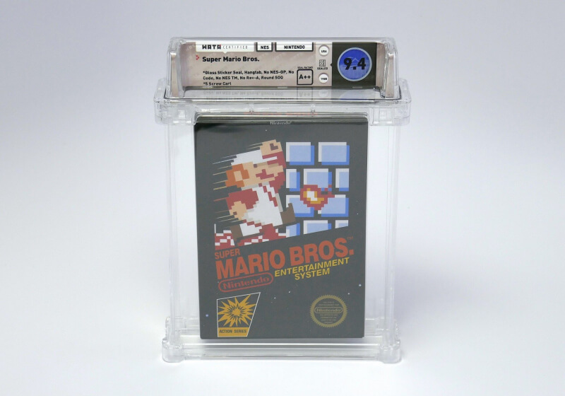 Sealed copy of Super Mario Bros. goes for over $100,000 at auction