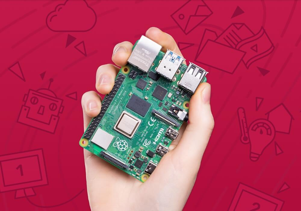 A Raspberry Pi 4 cluster is powering the tiny board's launch
