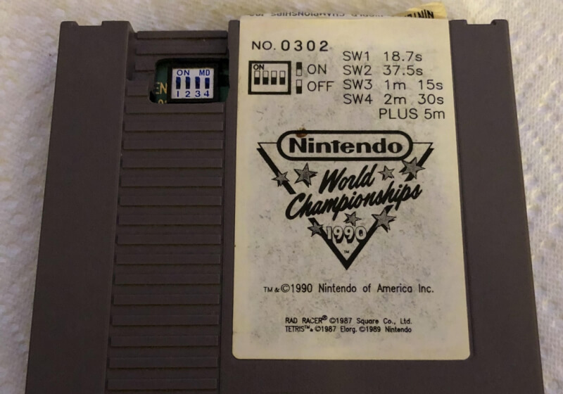 Shop uncovers ultra rare Nintendo World Championships cart from 1990
