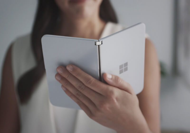 Microsoft's dual-screen, Android-based 'Surface Duo' smartphone has been seen in the wild