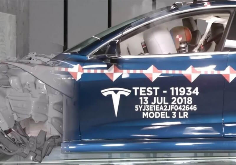 Tesla shows off the high-speed crash tests performed in its lab