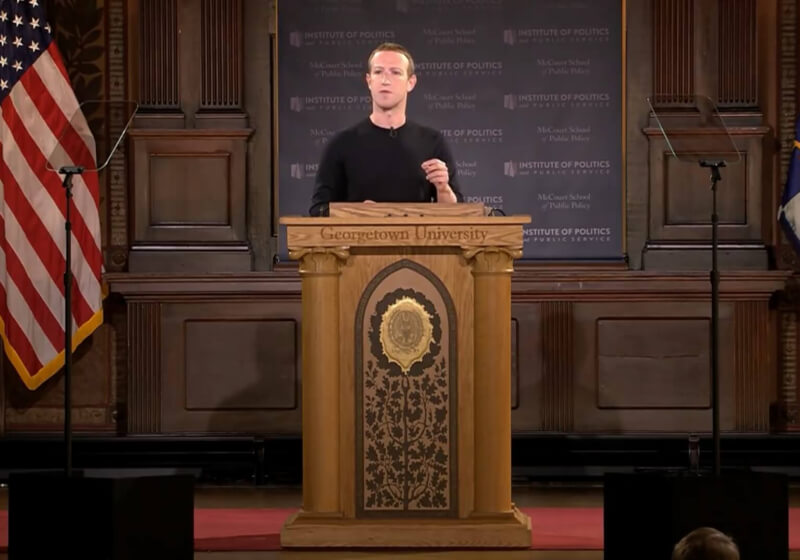 Zuckerberg defends political ads policy and warns that China's censorship model is being adopted on big platforms