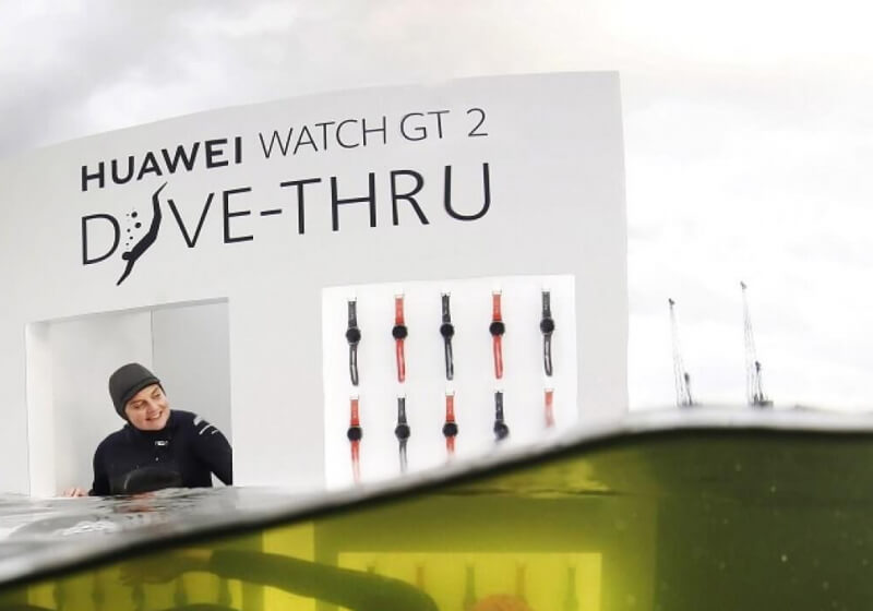 For a dunk in London's River Thames you can have a Watch GT 2 for free