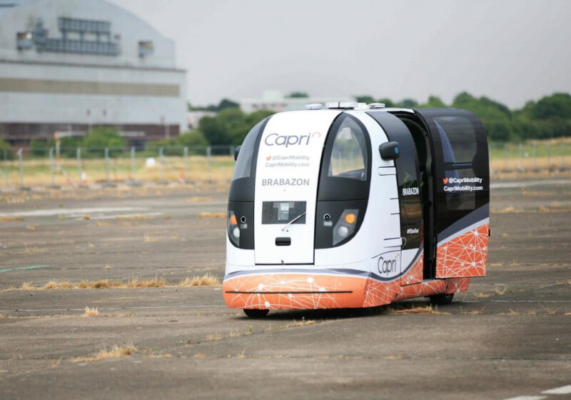 Autonomous vehicle R&D group 'Capri Mobility' is testing 'driverless pods' in the UK