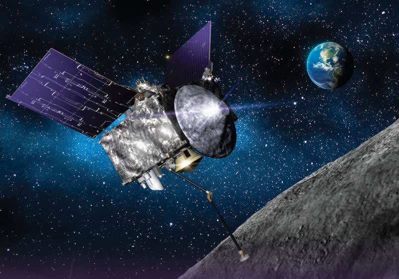 NASA spacecraft collects material sample from distant asteroid