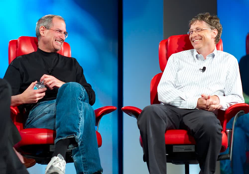That time when Steve Jobs and Bill Gates shared the stage in a joint interview