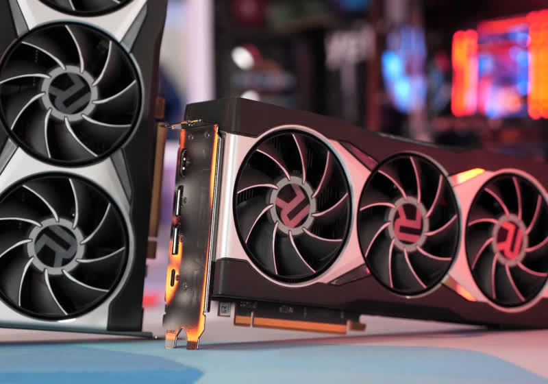 Is this the first picture of AMD's RX 6600 XT graphics card?