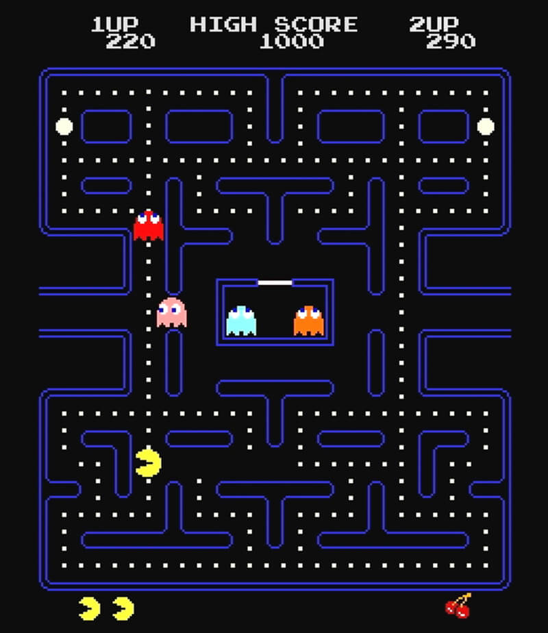 It is a photo of Amazing Pictures of Pacman Ghosts