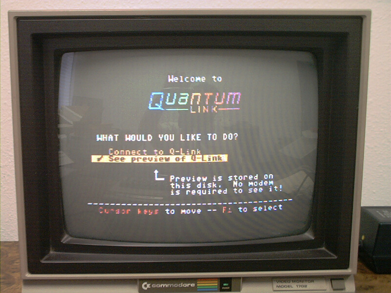 Quantum Link Aol Pre 1991 First Provided Online Services