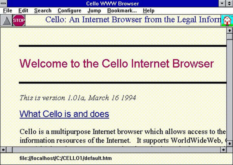 What was the first web browser available for Microsoft's ...